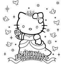 Desenho da princesa Kitty para colorir