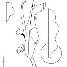 Desenho de um jato privado para colorir