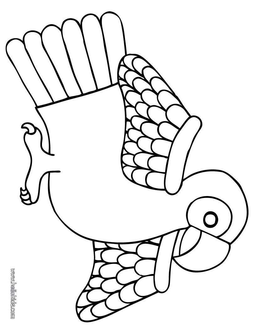 Desenhos Para Colorir De Desenho De Um Pequeno Papagaio Para