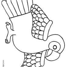 Desenho de um pequeno papagaio para colorir
