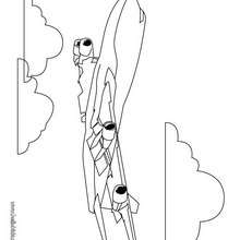Desenho de um Avião de transporte para colorir
