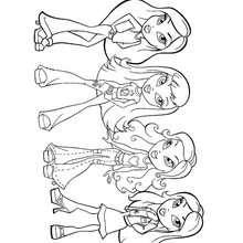 Desenho das bonecas Bratz para colorir