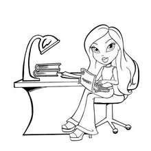 Desenho da Bratz no computador para colorir