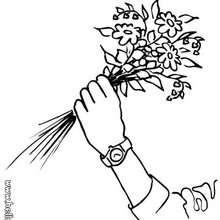 Desenho de um Ramo de flores para colorir