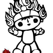 Huanhuan, mascote olímpico das olimpíadas de Beijing 2008 para colorir