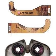 Óculos do WALL-E para recortar