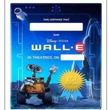 WALL E : certificado de visão do filme