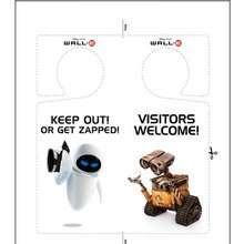 Placa de maçaneta do WALL E para imprimir e colorir
