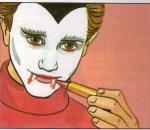 Pintura facial de VAMPIRO DO DIA DAS BRUXAS