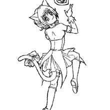 mangá, Desenho da Zoey para colorir