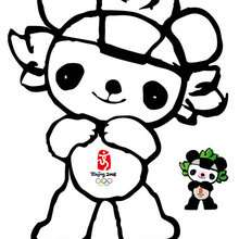 Jingjing, mascote das olimpíadas de Beijing 2008