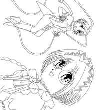 mangá, Desenho da Brigite para colorir