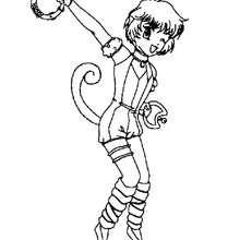 Desenho da Kikki para colorir