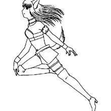 Desenho da Renée Roberts correndo para colorir