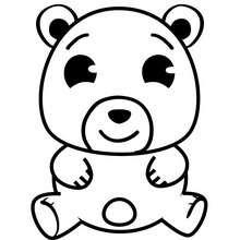 Desenho de um ursinho para colorir