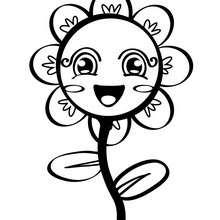 Desenho de uma flor de brinquedo para colorir