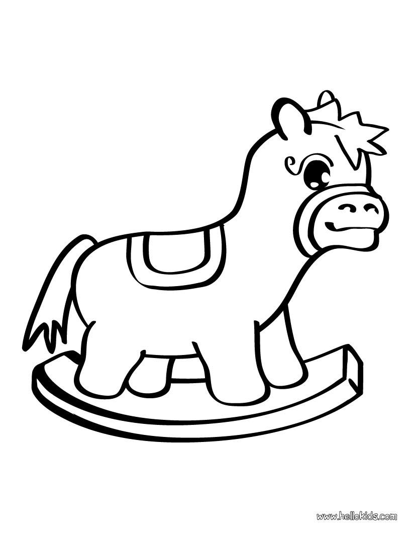 Desenhos Para Colorir De Desenho De Um Cavalo De Brinquedo Para