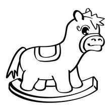 Desenho de um cavalo de brinquedo para colorir