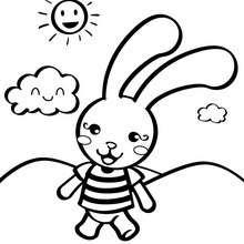 Desenho de um coelho de brinquedo para colorir