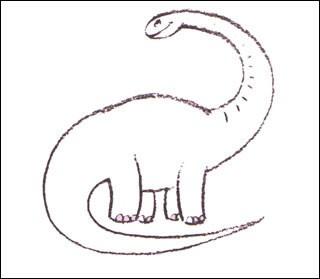 Como desenhar um Diplodoco