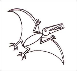 Como desenhar um Pterodáctilo