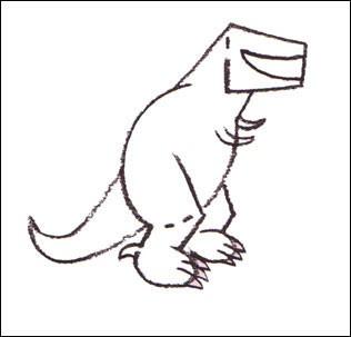 Como desenhar um Tiranossauro