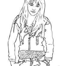 cantor, Desenho da Miley Cyrus / Hannah Montana para colorir