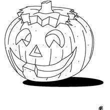 Desenho de uma abóbora para o Dia das Bruxas para colorir