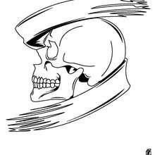 Desenho de um crânio do Dia das Bruxas para colorir