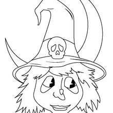 Desenhos Para Colorir De Desenho Do Retrato De Uma Bruxa Para