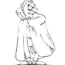 Desenho para colorir do Conde Drácula da Transilvânia