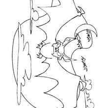Desenho de morcegos do Dia das Bruxas para colorir