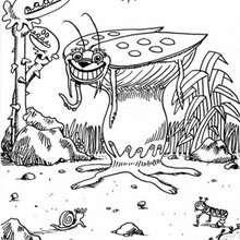 Desenho de um monstro-Barata para colorir