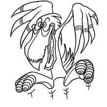 Desenho de um monstro-dragão-pelicano para colorir