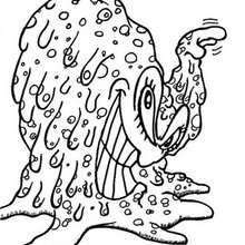 Desenho de um monstro-gordo para colorir