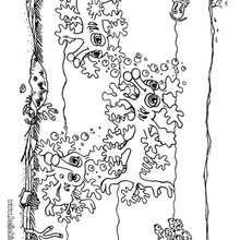 Desenho de pequenos mostros marinhos para colorir