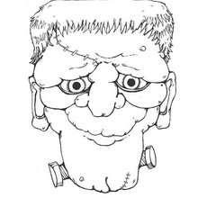 Desenho do retrato do Frankenstein para colorir