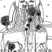 Desenho de um monstro Girafa para colorir