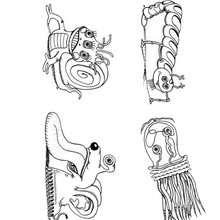 Desenho de uma criatura do Halloween para colorir