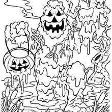 Desenho de um monstro de lama para colorir