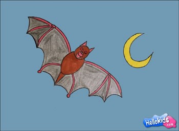 Como desenhar um morcego de Halloween !