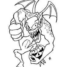 Desenho de um monstro do Halloween para colorir