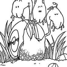Desenho de um Montro-caracól para colorir