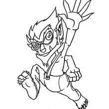 Desenho de um monstro-Duende para colorir
