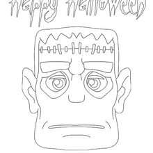 Desenho do Frankenstein para colorir online