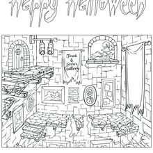 Desenho da galeria do Frankenstein para colorir