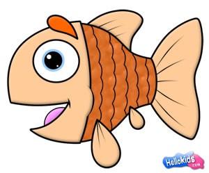Como desenha um peixe engraçadinho