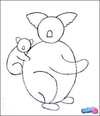Como desenhar um Coala
