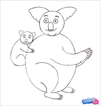 how to draw a koala step by step for kids