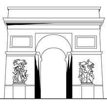 Desenho do Arco do Triufo para colorir